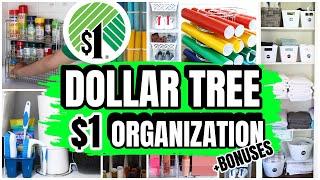 DOLLAR STORE ORGANIZATION HACKS & DIYS (great for smaller spaces)