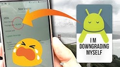How to Downgrade Your Android Phone With Ease! JUST TRY THIS ITS WORKING
