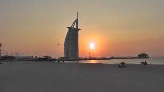 Дубаи.  Пальма Джумейра, отель Парус и ночной город(Beschreibung., 2015-12-15T07:16:02.000Z)