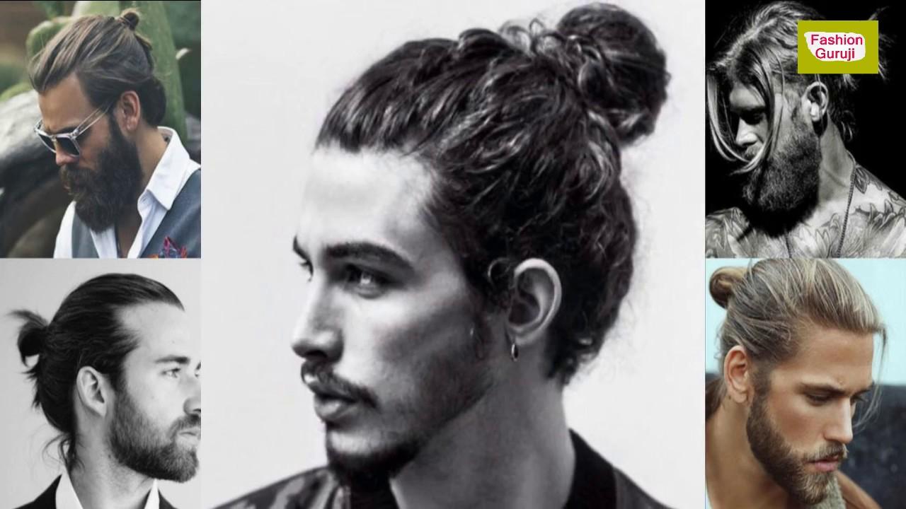 man bun hairstyle and top