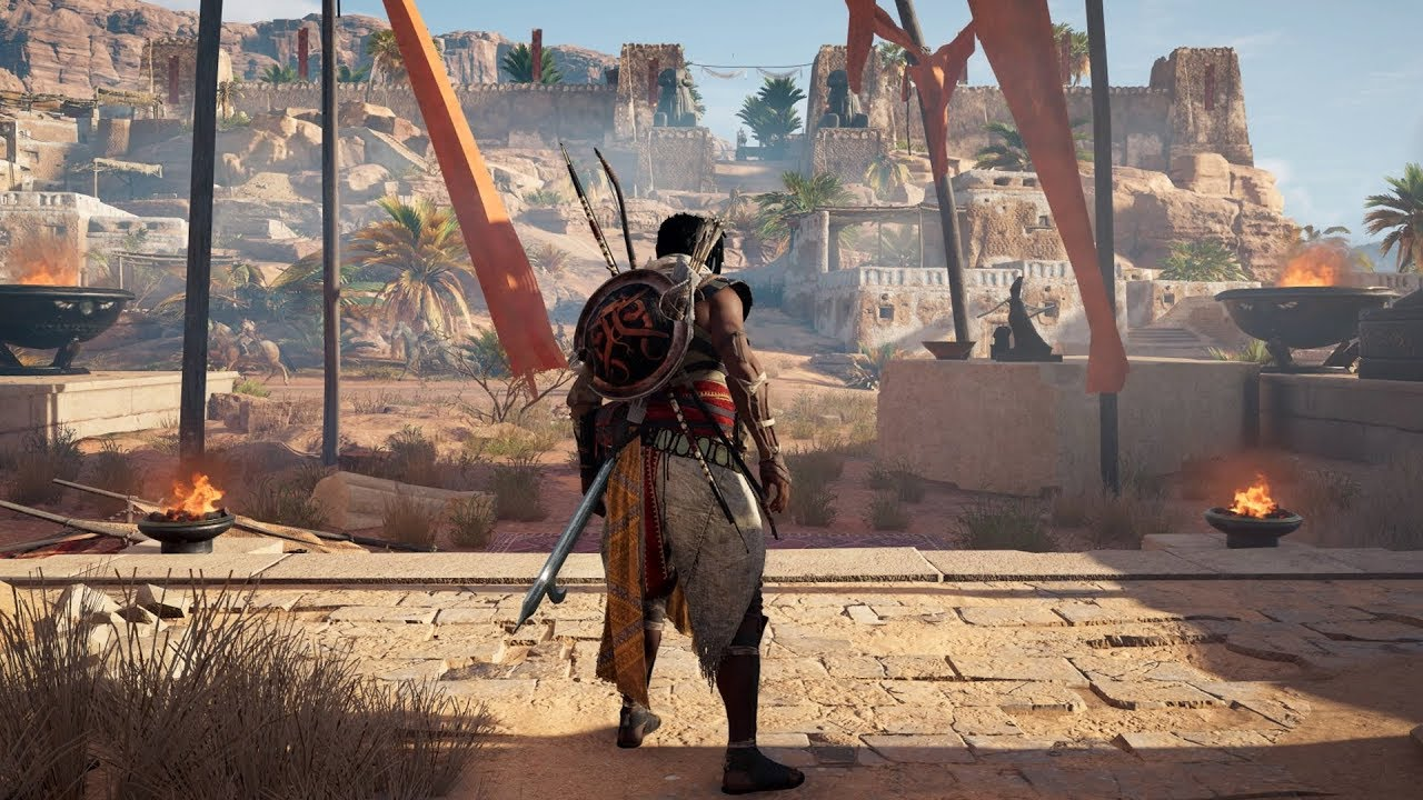 Assassin S Creed Origins Siwa Open World Free Roam Gameplay