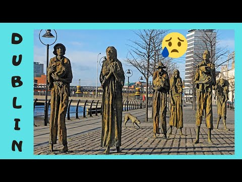 DUBLIN, the spectacular and expressive IRISH FAMINE MEMORIAL, IRELAND