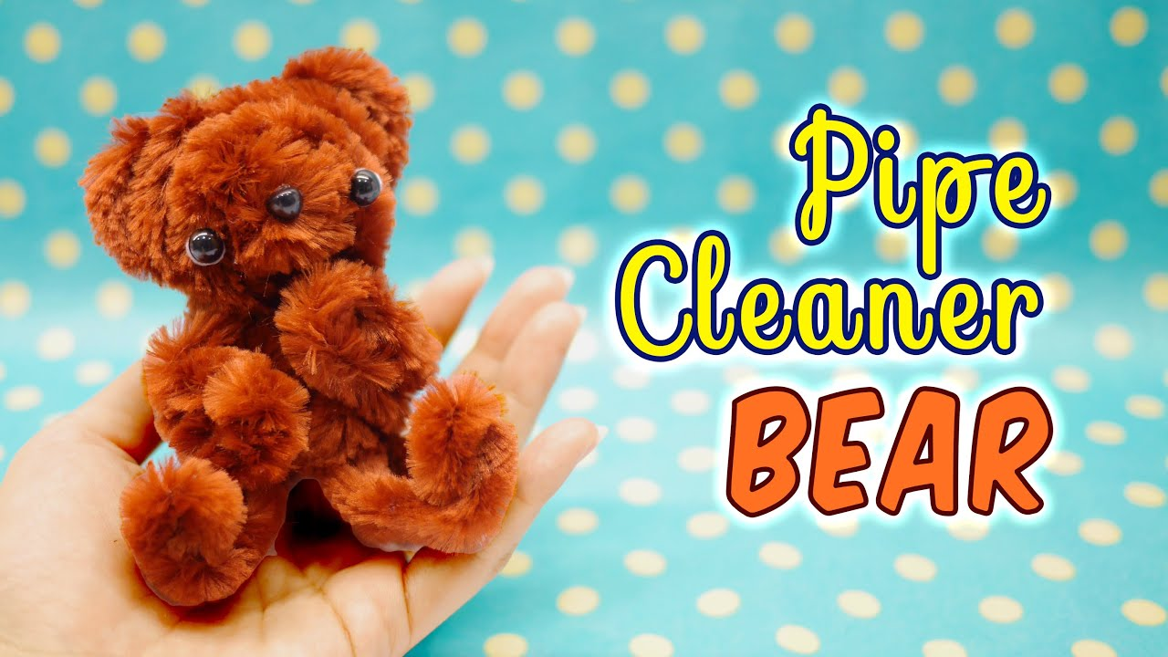 diy pipe cleaner bear craft kit from daiso tutorial