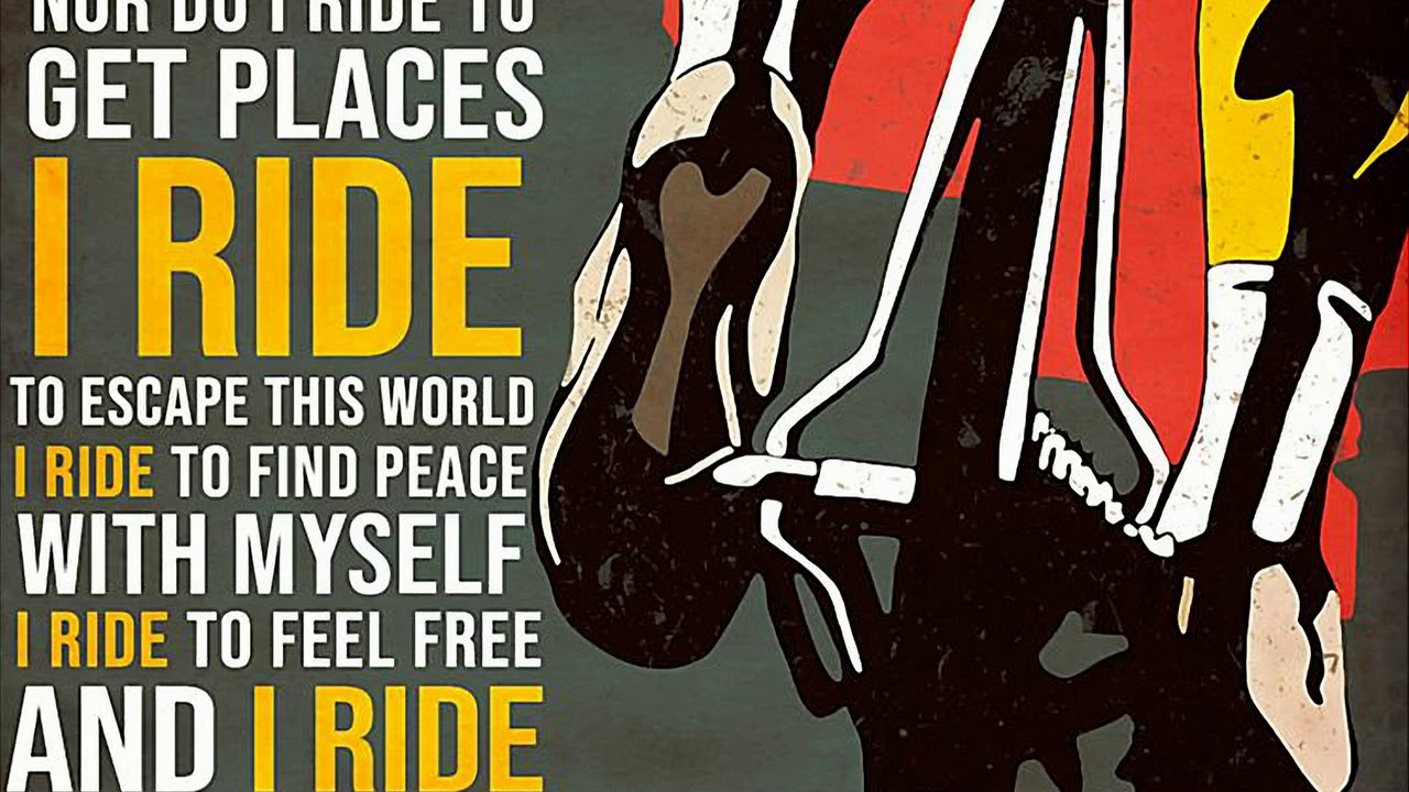 I Don T Ride My Bike To Win Races Poster Youtube