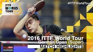 German Open 2016 Highlights: MA Long vs GROTH Jonathan (R32)(Review all the highlights from the MA Long vs GROTH Jonathan (R32) from the German Open 2016 Subscribe here for more official Table Tennis highlights: ..., 2016-01-29T17:26:06.000Z)