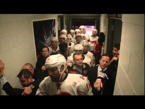 Tortorella in a Fight in the Flames Hallway - Jan 18th 2014 (HD)