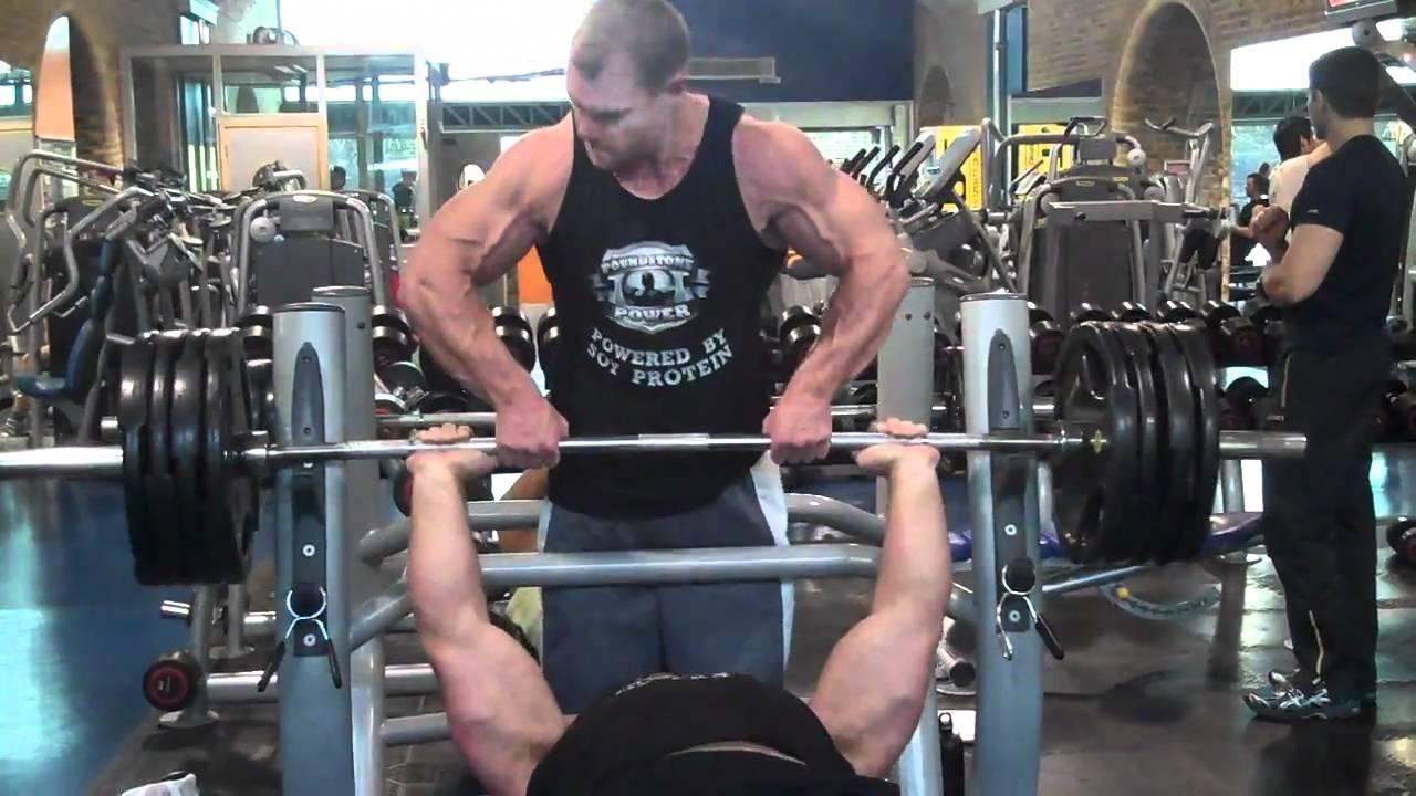 Derek Poundstone 180kg Bench Press | Maxiraw Training Day ...Derek Poundstone Bench