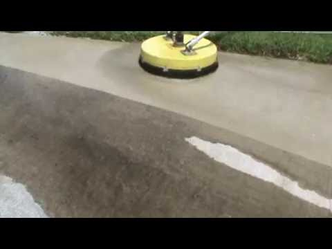 how to clean cement driveway
