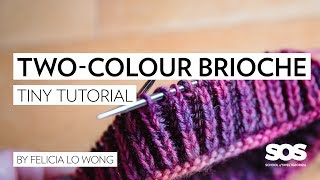 How to Knit Two-Colour Brioche in the Round // School of SweetGeorgia // Tiny Tutorial