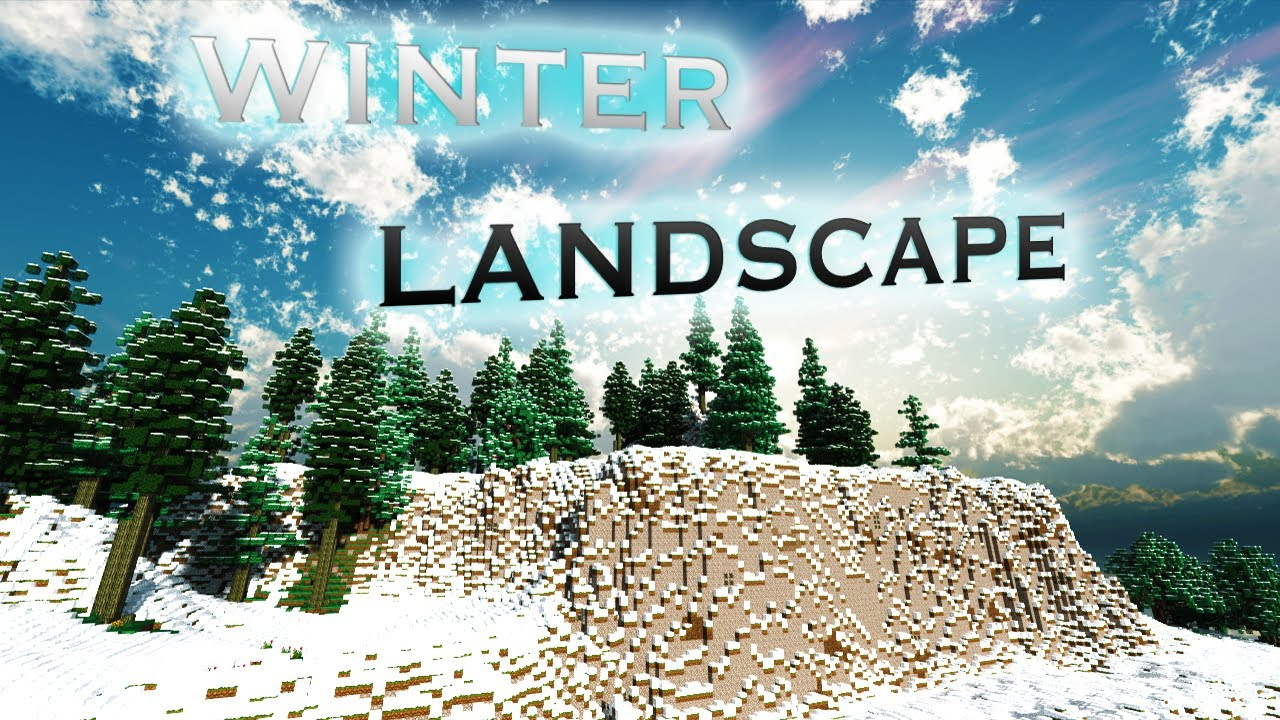 Minecraft Winter Landscape Download Worldpainter Youtube