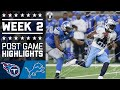Titans vs. Lions | NFL Week 2 Game Highlights