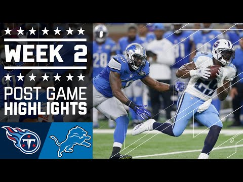 Titans vs. Lions   NFL Week 2 Game Highlights