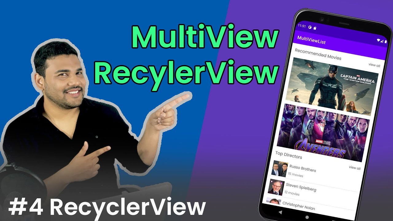 RecyclerView with Multiple View Types - #4 RecyclerView