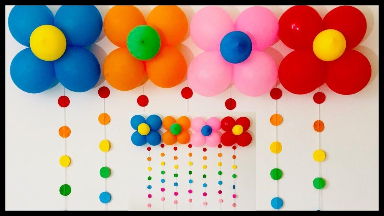 very easy birthday party decoration / easy balloon ...