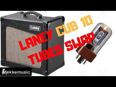 LANEY Cub 10 - TUBES SWAP - Before and after TEST
