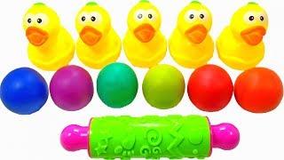 MỘT CON VỊT - CHÚ VOI CON Ở BẢN ĐÔN ♫ Nhạc Thiếu Nhi Vui Nhộn ♫ Learn Colors Play Doh with Duck BaBy