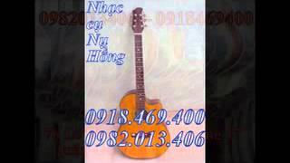 Bán đàn guitar chất lượng cao, âm thanh rất hay-Bán đàn guitar eo màu gỗ