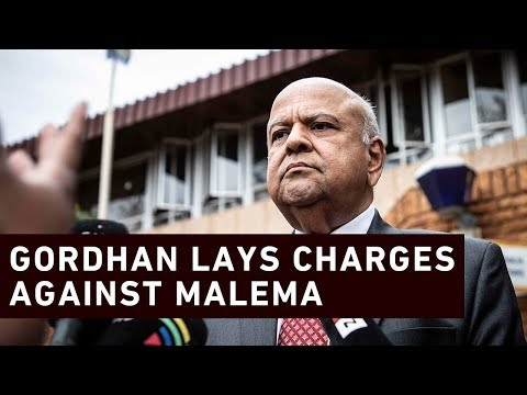 Gordhan lays criminal charges against Malema