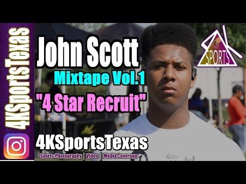 6'3 John Scott: Mixtape Vol.1 | Class of 2018 | Hitchcock High School (Official Mixtape)