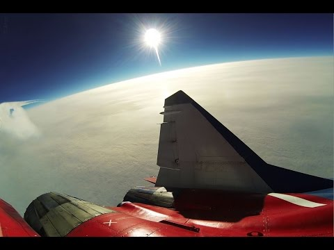 Famous Race Car driver Josh Cartu doing Edge of Space Flight in Fighter Jet