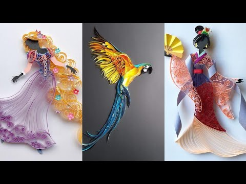 Beautiful Quilling Paper Art And Craft Ideas Easy To Make At Home