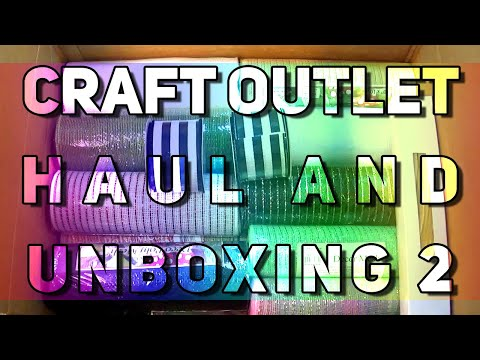 Craft Outlet Deco Mesh And Ribbon Haul And Unboxing 2 Collab With My Mom Youtube