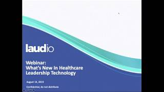 Webinar: what's new in healthcare leadership technology