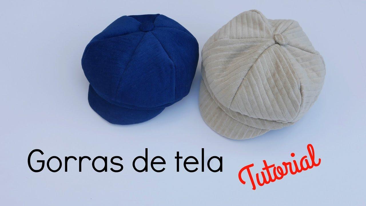 DIY   Cómo hacer una gorra de tela - YouTube 04e212ec5e8