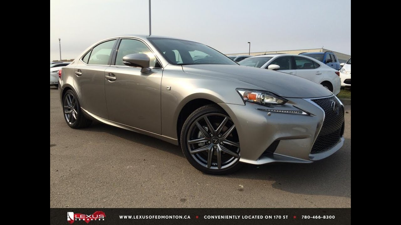 executive demo atomic silver 2015 lexus is 250 awd f sport. Black Bedroom Furniture Sets. Home Design Ideas