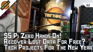 $5 Pi Zero Hands On! Tech Projects For New Years, 3 Apps That Recover Lost Data, Is WhatsApp Secure?