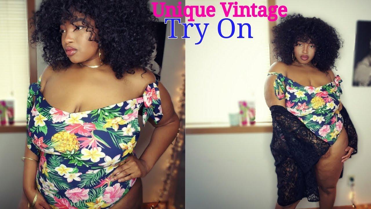 b85eba8e4ccd9 Unique Vintage Plus Size Swimsuit Try On Haul | Victoria Lashay ...