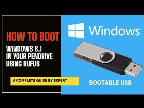 How To Boot  WIndows 8.1 In Your Pendrive Using  RUFUS
