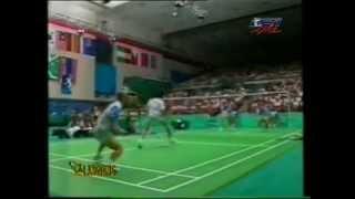 Final Bulutangkis Ganda Putra Olimpiade - Ricky/Rexy VS Yap/Cheah @ RCTI 31 Juli 1996 (Set 2)