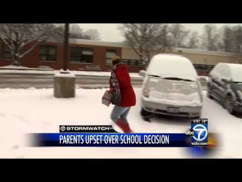 Fairfax County takes heat for not closing schools in snow