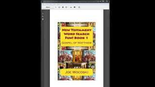 How to play a Bible Word Search Game on your Kindle