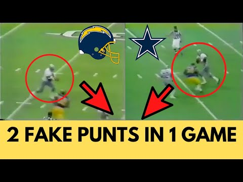 [OC] [Highlight] Cowboys QB/punter Danny White pulled off 2 fake punts in one game against the Chargers in 1980. Both times, he fooled not just the Chargers, but his own teammates as well. This is the story of how White called his own play twice in one game, without telling anyone