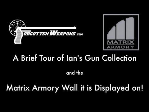 Some of Ian's Gun Collection, on a Matrix Armory Display Wall