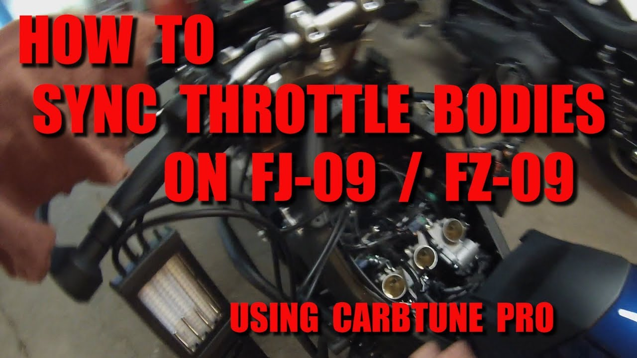How To Perform A Throttle Body Sync On FJ-09 (Tracer 900) / FZ-09