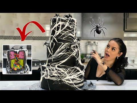 I MADE A HUGE SPIDER WEB CAKE!