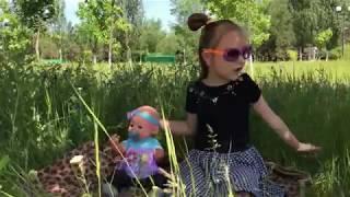 Изучаем Английский Язык на Пикнике с ВОЗДУШНЫМИ ШАРАМИ Baby Born and Balloons Funny Video For Kids