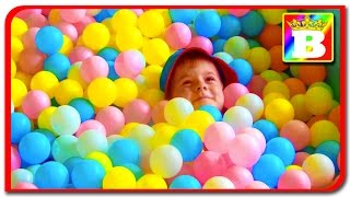 PIT BALL  PLAYGROUND. Fun Play Place for Kids, play centre ball. Play room with balls. Bogdan's Show