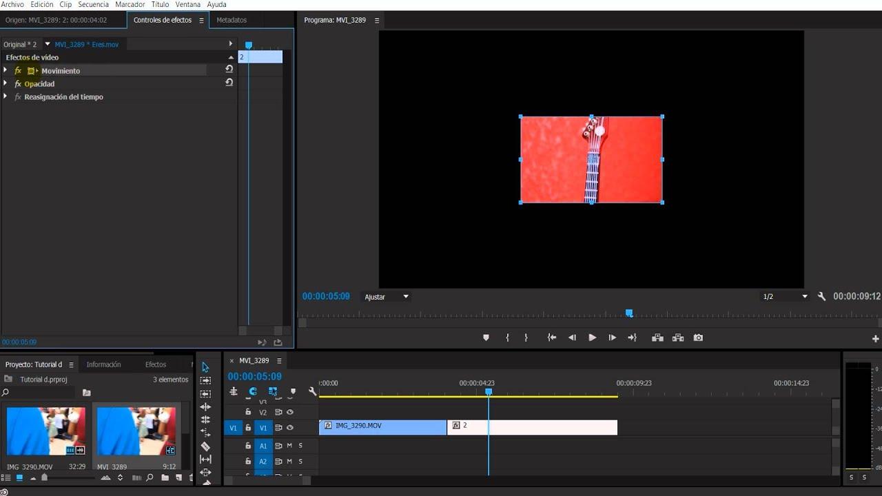 Modificar las dimensiones del video en Premiere SIN ESCALA UNIFORME ...