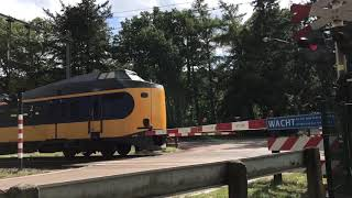 Spoorwegovergang  Perlintasan Kereta Api di Belanda   Dutch Railroad Crossing (Kootwijk)