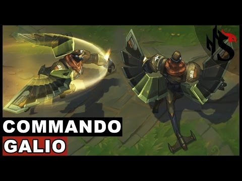 Commando Galio Skin Spotlight Champion Rework - Update 2017 (League of Legends)