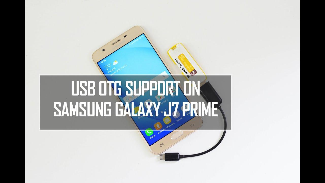 Samsung Galaxy J7 Prime Usb Otg Support Techniqued Youtube Flashdisk Atau Flashdrive Type C Original