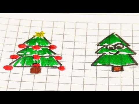 Malen im Filofax | Weihnachliche Bilder malen mit Kathi | Tanne, Sterne, Schneemann im Notizbuch