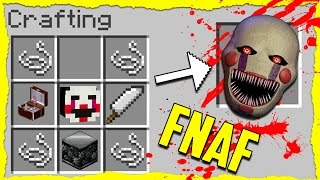 minecraft fnaf how to summon puppet master in a crafting table