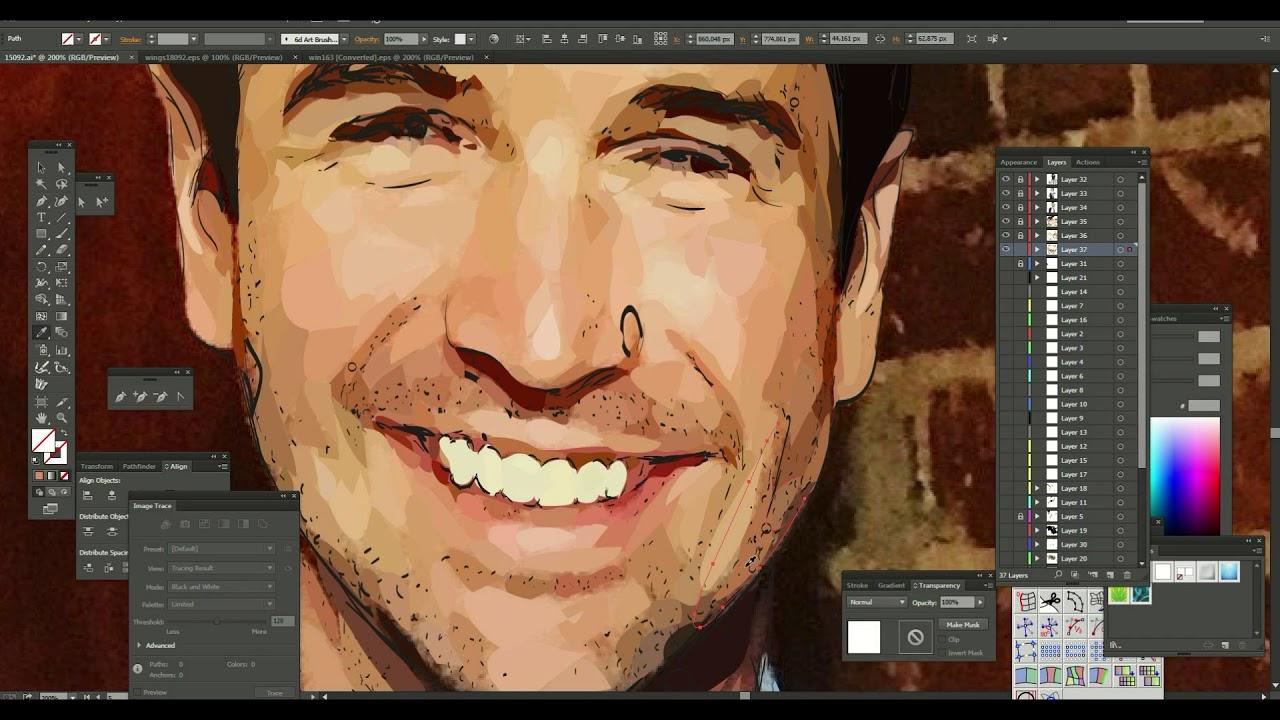 Рисунок на планшете в иллюстраторе