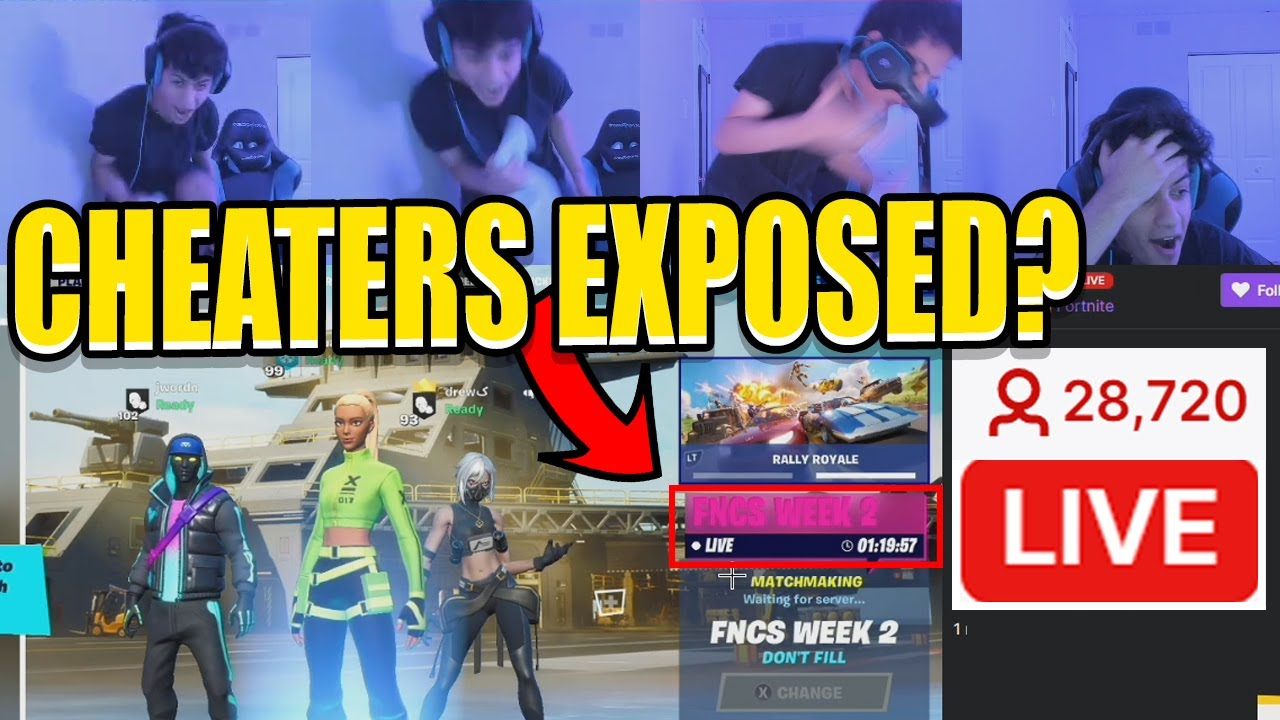 Fortnite Pros Caught Cheating In FNCS On STREAM By NRG Ron? Epic STEPPED IN! (FULL STORY)