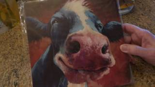Dollar Tree Haul: Canvas art!! Chickens, cows and coffee March 10 2017